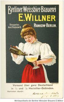Werbung für Berliner Weiße